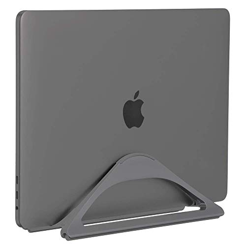 HumanCentric Vertical Laptop Stand for Desks (Space Gray) | Adjustable Holder to Dock Apple MacBook, MacBook Pro, and Other Laptops to Organize Work & Home Office