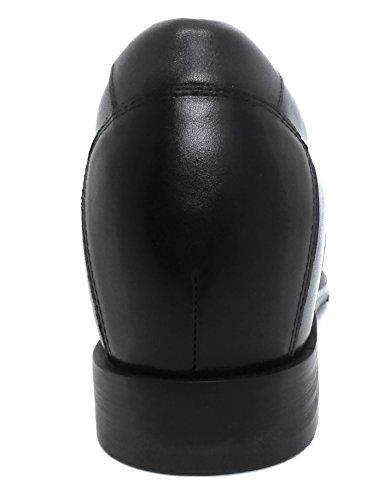 Zerimar Scarpe da Uomo con Aumentano Interni Aumenta +6,5 cm Pelle cm Genuina Scarpe di Pelle 100% Naturale