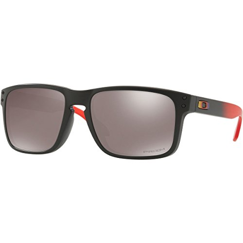 Oakley Men's Holbrook Sunglass, Ruby Fade/Prizm Black Polarized (Oakley Holbrook Metall)