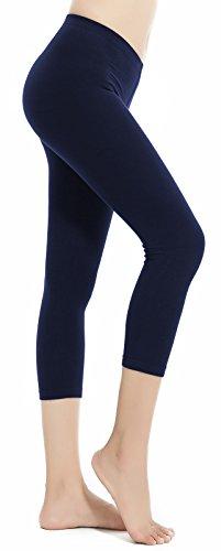 Aenlley Women's Spandex Capris Leggings - Ultra Soft Workout Legging Color ZQ Plus Size