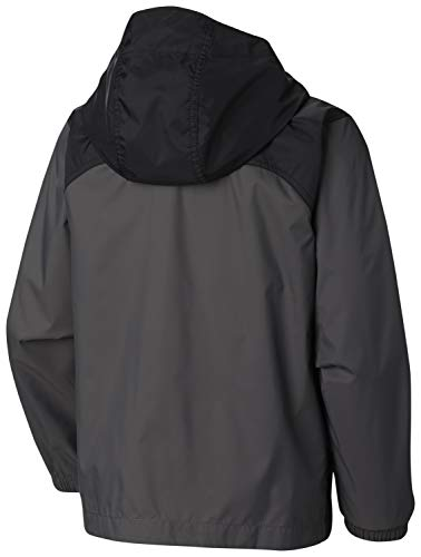 Columbia Boys' Little Glennaker Rain Jacket, Grill/Black X-Small by Columbia (Image #2)