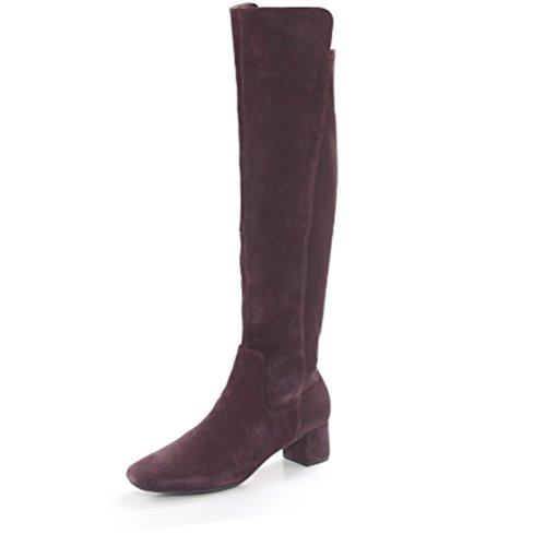 EU Over Bess Boot Heel The 5 Clarks Knee with D Aubergine UK Tealia Suede 40 Block 6 q4AEwZ