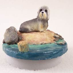 Conversation Concepts Miniature Dandie Dinmont Candle Topper Tiny One ''A Day on the Beach'' by Conversation Concepts