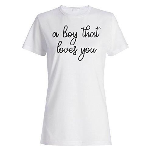 Ein Junge, der dich liebt lustige Neuheit Damen T-shirt d301f
