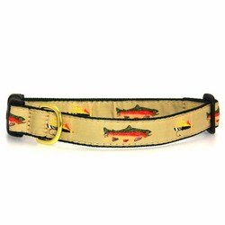 Up Country Fly Fishing Dog Collar with Quick Release Buck...