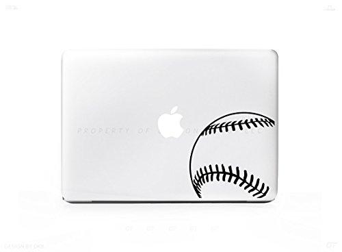 Baseball Ball Corner Sticker Decal For MacBook Pro, PC, Laptop, Window, Car, or Wall