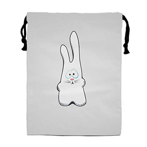 Bunny Drawing Sad Drawstring Bag/Shoes Underwear Makeup Laundry Storage Pouch Bags Organizers 15.75 x -