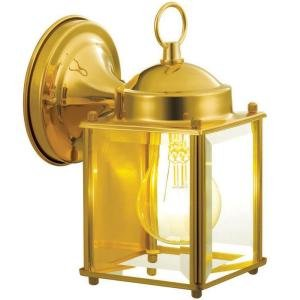 Polished Brass 1 Light Outdoor 7.75