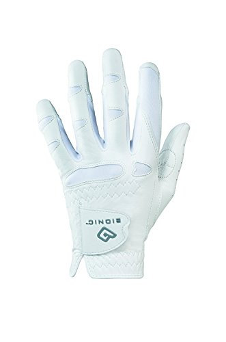 Bionic Women's StableGrip w/Natural Fit Golf Glove WH Left (XL) ()