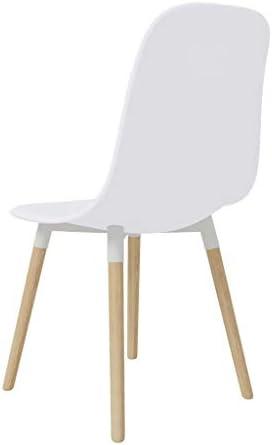 E E-NICES Chaises de Salle à Manger 2 pcs Blanc Plastique