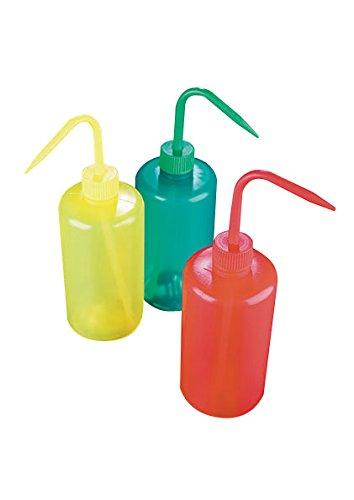 AZLON WGR038P Plastic, Red, Wash Bottle, Square Shoulder, 500 ml (Pack of 5) Duran Inc