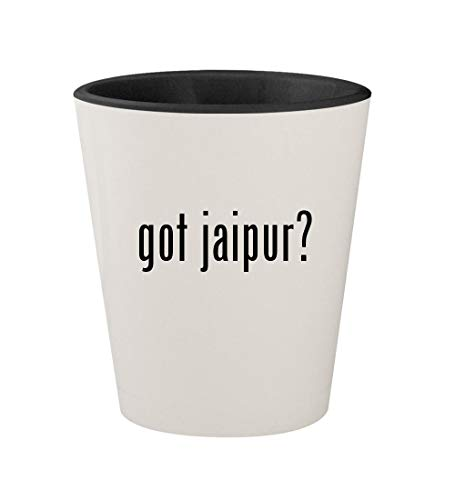 got jaipur? - Ceramic White Outer & Black Inner 1.5oz Shot Glass