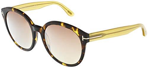 Tom Ford FT0503 52Z Dark Havana Philippa Round Sunglasses Lens Category 2 Lens