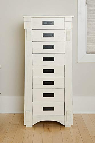 -349 Mission Standing Jewelry Armoire White ()