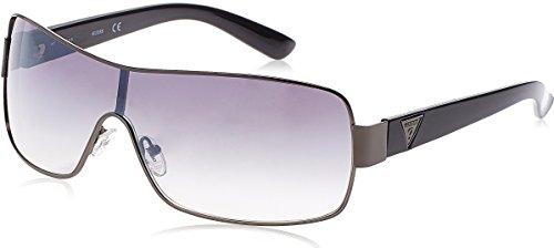 GUESS Unisex GF6594 Shiny Gunmetal/Gradient Smoke One - Purple Sunglasses Guess