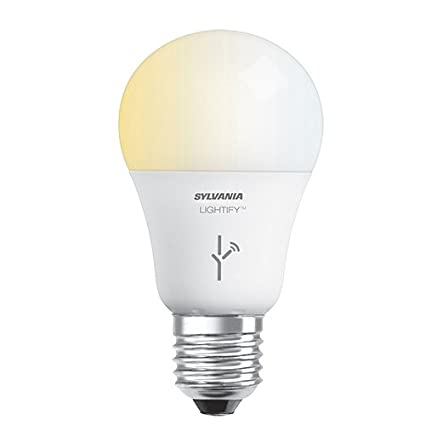 SYLVANIA LIGHTIFY ZigBee Adjustable White A19 LED Bulb, Works with  SmartThings, Wink, and Amazon Echo Plus, Hub needed for Amazon Alexa and  the Google