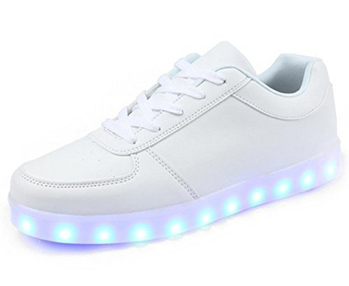 Sport Charging JUNGLEST Womens White USB small towel Fl LED Shoes Present wqX0Eft