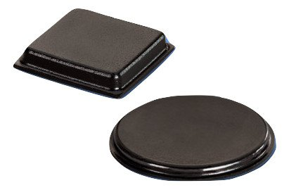 Black Cushion Grip - 1 Inch Black Adhesive Bumpers Combo Pack (Square, Circle) - Made in USA - Set of 23 Glass Protective Pads, Self Stick Rubber Pads for Glass Table Top, Furniture Feet, Picture Frames