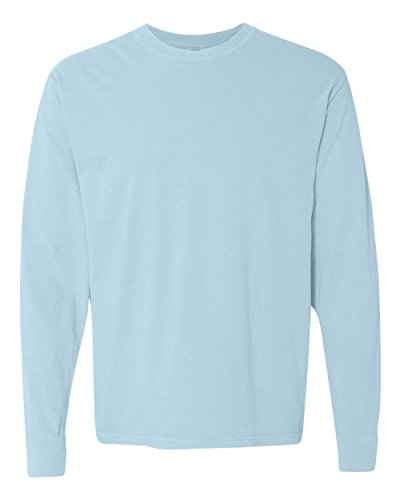 Comfort Colors Ringspun Garment-Dyed Long-Sleeve T-Shirt, Large, CHAMBRAY