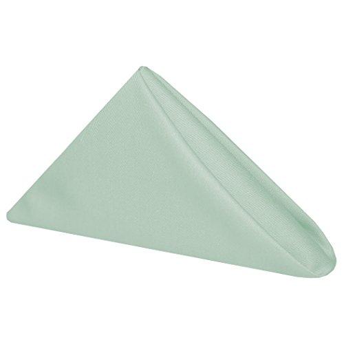 Light Green Linen (Ultimate Textile Poly-cotton Twill 17 x 17-Inch Cloth Napkins (1 Dozen) Seamist Light Green)