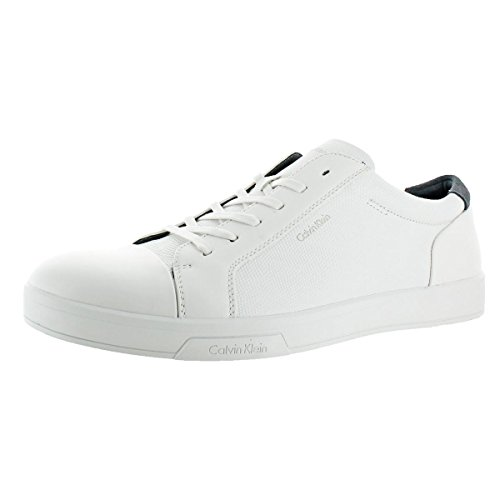 Calvin Klein Barrington Men Casual Athletic Fashion Sneaker Shoe White Size 11 by Calvin Klein