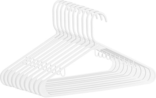 White Plastic Hangers - Pack of 30 - Durable ...