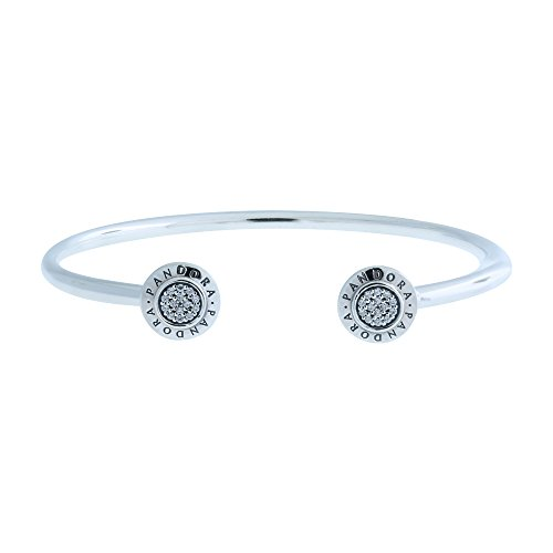 Pandora Womens Signature Open Silver Bangle   590528Cz 1