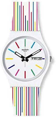 Swatch Reloj Analógico para Mujer de Cuarzo Suizo con Correa en Silicona GW712