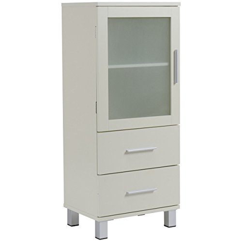 Giantex Floor Storage Cabinet Organizer Stand Chest w/ 1 Door and 2 Drawers Adjustable Shelf -