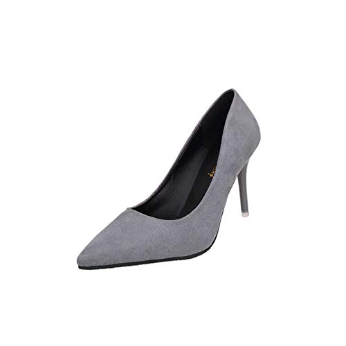 high Heels Women Pumps Thin Heel Classic White red nede Beige Sexy Prom Wedding Shoes Blue Red Wine,98 Gray 8CM,5.5