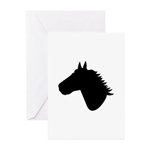CafePress - Horse Head - Greeting Card, Note Card, Birthday Card, Blank Inside Matte