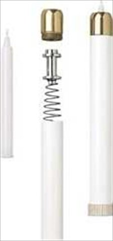 Artistic Manufacturing 920421 Candle Tube Candle With Brasstone Top 1.12 Socket