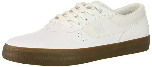 DC Men's Switch Skate Shoe, White/Gum, 14 D M US