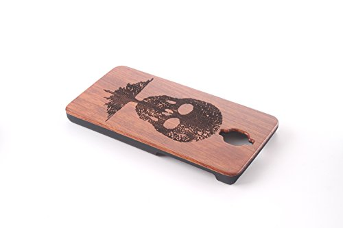 Funda Madera para OnePlus 3T, Vandot Manual Natural Wood Bamboo Contraportada de Madera + PC Bumper Shell Tallado Funda Protectora para OnePlus 3T (OnePlus 3), Diseño de Ancla Anchor, Natural Marrón Mu+PC 04