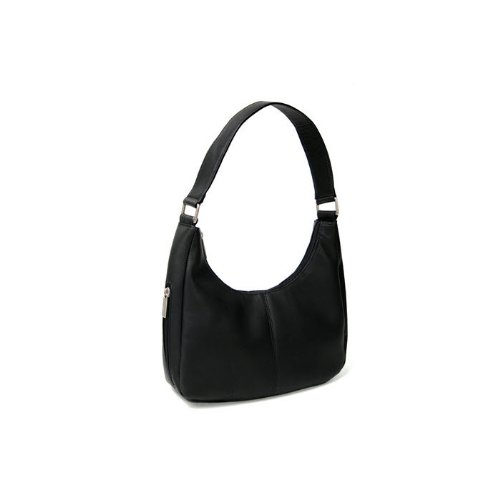 Royce Leather Women's Vaquetta Leather Hobo Bag,Black,One Size