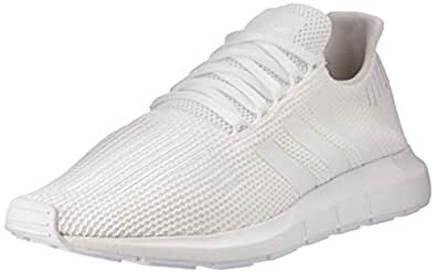 adidas, Swift Running Shoe, Men's Shoes, White/White/Black, 8.5 US