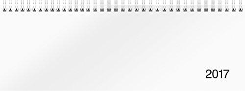 Rido/idé (703650100) Tischkalender/Querterminbuch Modell Sequenz (2 Seiten = 1 Woche, 297 x 105 mm, Karton-Einband Trucard weiß, Kalendarium 2017, Wire-O-Bindung)