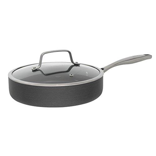Bialetti Ceramic Pro Hard Anodized Nonstick Deep Saute Pan, 11