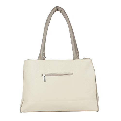 5502c51c4c23 Bags Villa PU Leather Handbag and Wallet Clutch Combo for Women and Girls  Ivory  Amazon.in  Shoes   Handbags