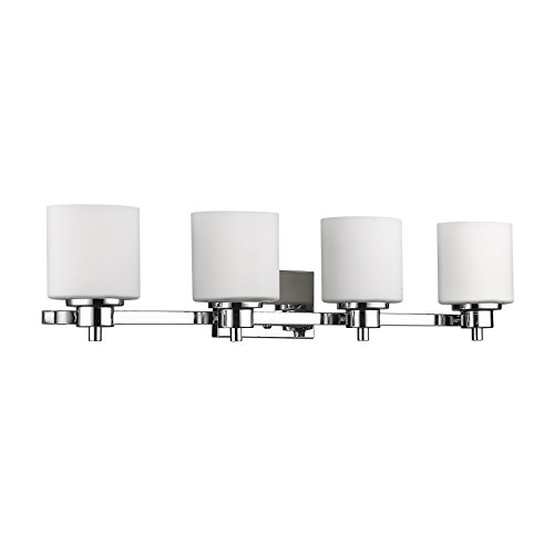(4-Light Contemporary Bath Vanity Wall Fixture)