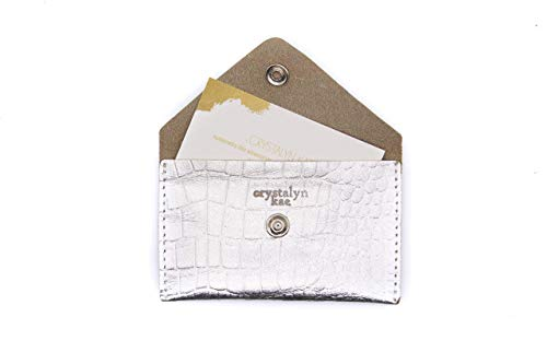 Gold Leather Wallet with Pearl Snap Mini Crocodile Crystalyn Kae