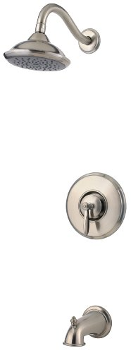 Price Pfister Brass Handles (Pfister Langston 1-Handle Tub & Shower Faucet, Brushed Nickel)
