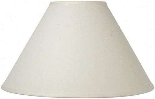 Upgradelights Chimney Style Oil Lamp Shade 10 Inch Eggshell Linen 4x10x7