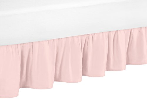 Sweet Jojo Designs Blush Pink Toddler Bed Skirt for Girls Amelia Collection Kids Children's Bedding Sets