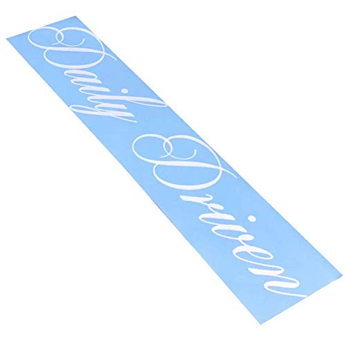 (Rdecals Daily Driven Cursive Windshield Banner Decal/Sticker 6.5