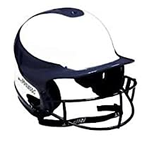 Girls/Women's Softball Helmet, Chin Strap & Blackout Technology Facemask (NOCSAE, ASA, Little League, Travel Ball and School Approved Light-Weight Dual Density Fastpitch Helmet by RIP-IT)
