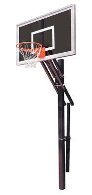 最初チームSlam Eclipse steel-smokedガラスin ground調整可能バスケットボールsystem44、コロンビアブルー B01HC0C846