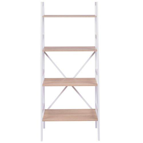 Edxtech 4 Tier Ladder Wall Stand Display Bookshelf Bookcase Storage Shelves Book Rack