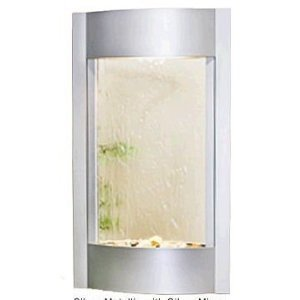Adagio Water Fountains - Adagio Serene Waters with Silver Mirror in Silver Metallic Finish Fountain