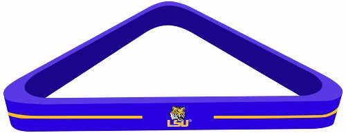 Imperial Officially Licensed NCAA Merchandise: Wood Triangle Billiard/Pool Ball Rack, LSU Tigers